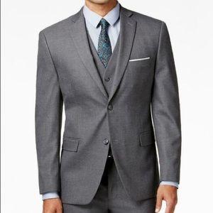 New Mens Alfani Red Label Charcoal Gray Jacket 40R